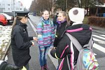 Akci ke zvýšení bezpečnosti chodců pořádala ve středu dopoledne tachovská policie.