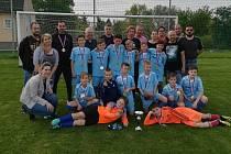 Okresní výběr jedenáctiletých fotbalistů vyhrál krajský turnaj.