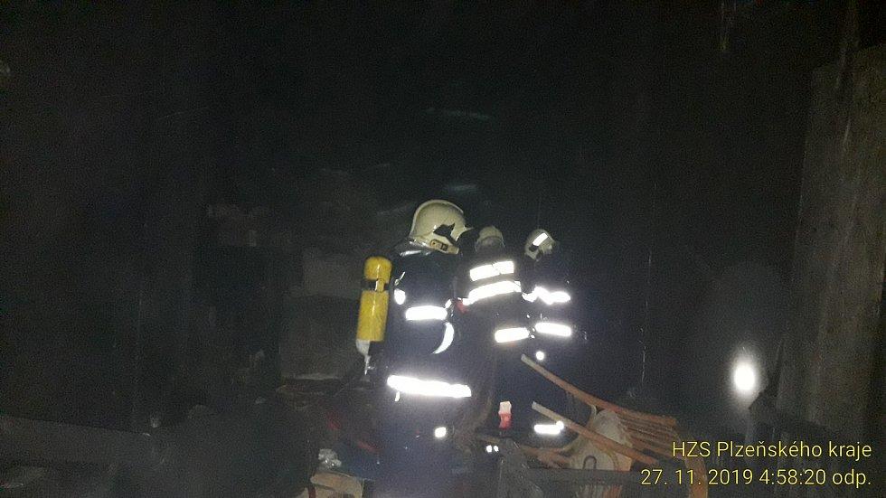 Bezdomovci zapálili bývalou galerii.