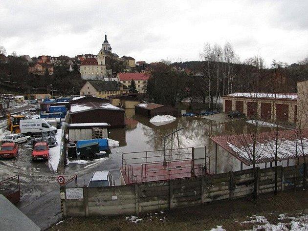 Povodeň ve Stříbře