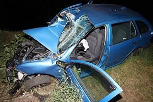 Dopravní nehoda u Přimdy.