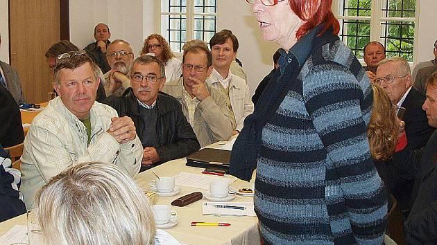 Na semináři se prezentovala i MAS Český Západ v čele s Miroslavou Válovou.