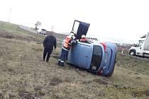 Nehoda u Částkova.