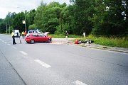 Krátce po dvanácté hodině došlo k vážné dopravní nehodě mezi Tachovem a Oldřichovem.