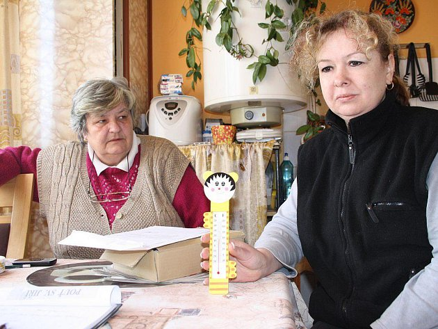 TEPLOMĚR STÁL v pondělí dopoledne na nejteplejším místě bytu Marie Vyskočilové z Chodové Plané. Přesto neukazoval více než necelých čtrnáct stupňů. Přívod plynu byl v domě odpojen v pátek odpoledne, přestože nájemníci poctivě hradí všechny poplatky.