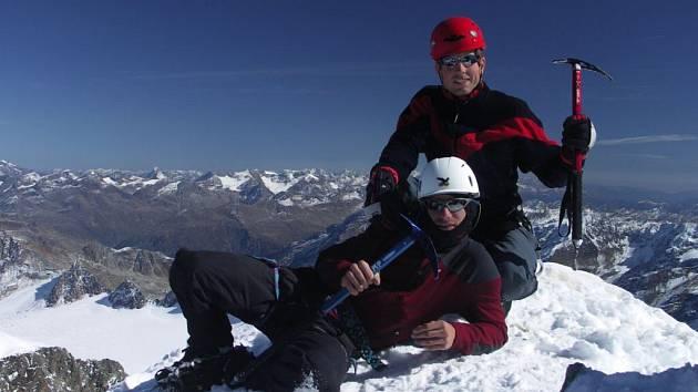 Společné foto na vrcholu (samospoušť)