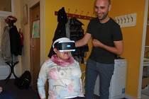 Virtuální workshop v pečovatelském domě.