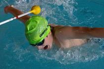 David Kratochvíl na plaveckém mítinku IDM v Berlíně.