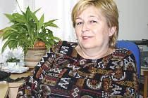 Sociální pracovnice Zdeňka Brožová.
