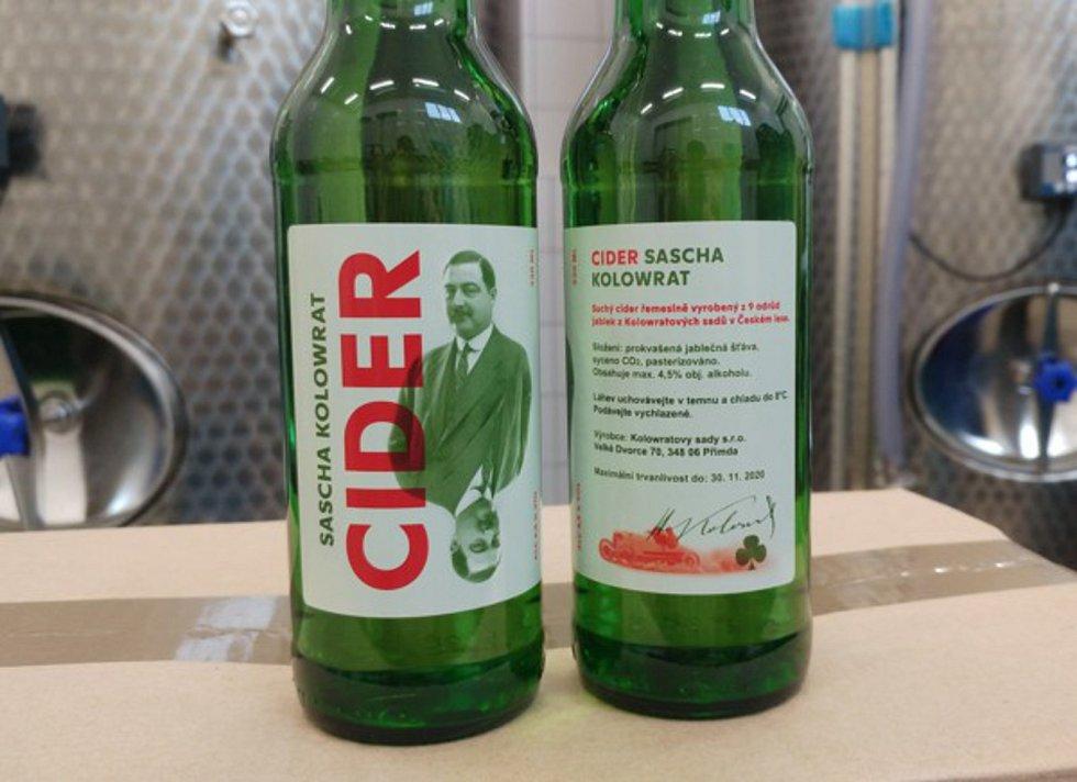 Cider z Kolowratových sadů získává různá ocenění.