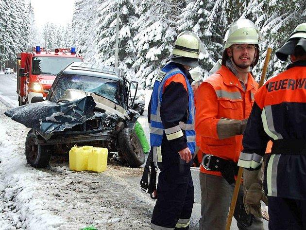 Páteční dopravní nehoda nedaleka Broumova.