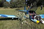 Pád malého letadla u Oldřichova
