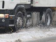 Sníh zasypal Plzeň.