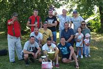 Vítězné mužstvo Sokola Bor vyhrálo všechny zápasy.