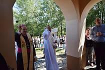 Svěcení kaple v Kladrubech.