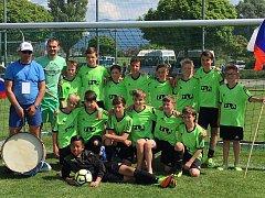 Tachovský tým kategorie U13 na turnaji v rakouském Bregenzu.