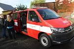 Převzetí nového hasičského vozidla.