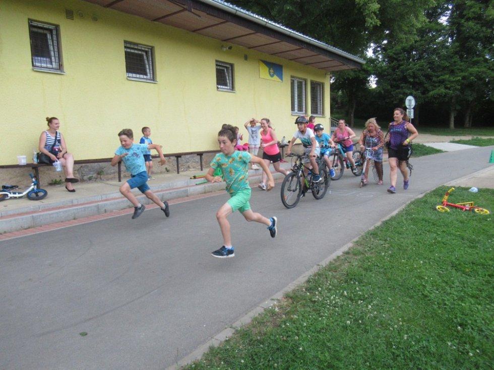 První závody na inline dráze v Kladrubech.