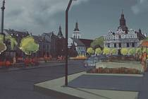Jedna ze studií budoucí podoby stříbrského náměstí. Studie jsou k nahlédnutí na radnici