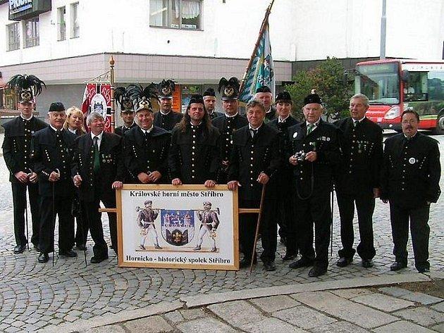 Hornický spolek Stříbro při letošním setkání v Jihlavě.