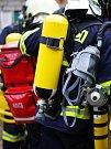 V prostorách Hornického skanzenu se uskutečnilo hasičské cvičení.