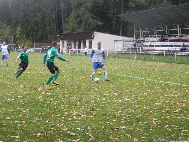 Adam Kolář při jednom z podzimních utkání.