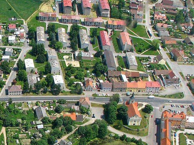 Část sídliště Lučina v Chodové Plané.