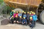 Z exkurze stříbrského hornického spolku po hornických skanzenech Rakouska.