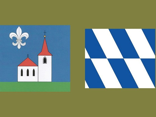 Znak a vlajka Kostelce