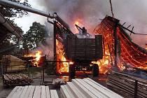 Požár pily v Mýtě