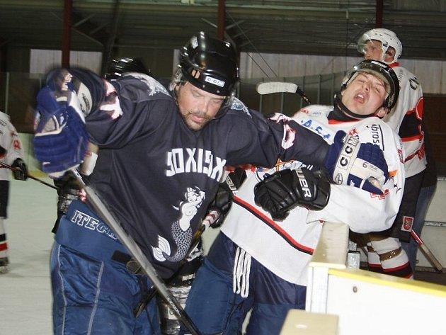 Z utkání HC Tachov - SK z Bor.