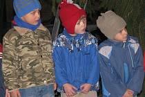 V Trpístech na návsi rozsvítili vánoční strom