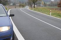 OBA ÚSEKY silnice z Pernolce do Přimdy jsou opravené. Třetí úsek  čeká na dořešení vlastnických vztahů pozemků.