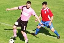 Přimdští fotbalisté prohráli v utkání 1.A třídy s Černicemi 2:3, skórovali Krýsl a Tkáč.
