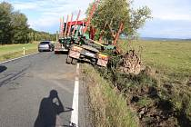 Nehoda u Chodové Plané.