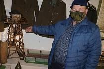 Z muzea Pohraniční stráže v Rozvadově. Na snímku Květoslav Hladík