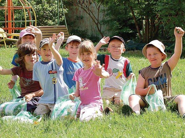 Děti v mateřince hledaly zlatý poklad