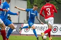 Petr Mareš v zápase se Spartaksem.