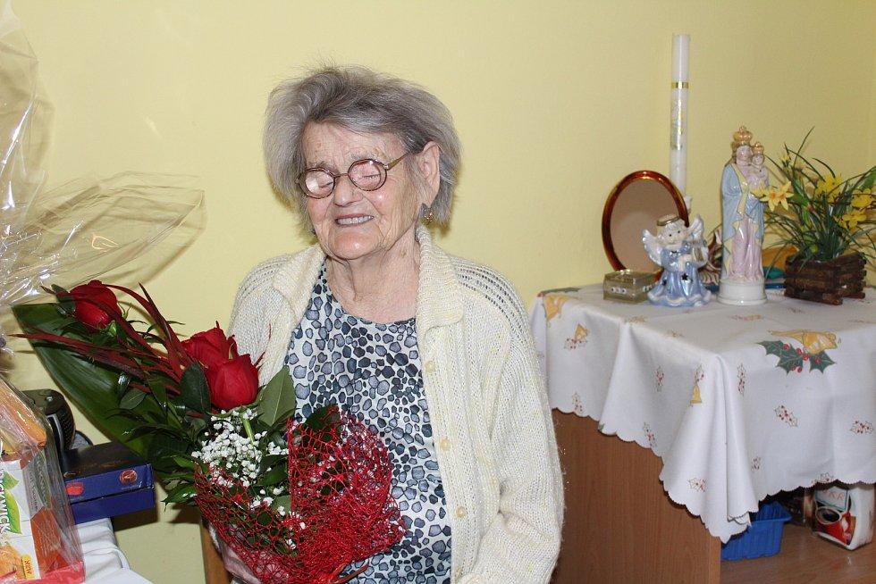 Mária Zemenová oslavila 101. narozeniny.