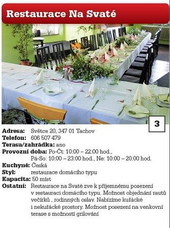 3. Restaurace Na Svaté