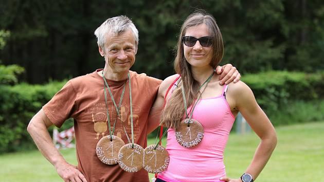Běh Haltravou - Ivan David a Lucie Davidová.