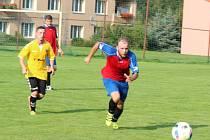 Z utkání FK Planá - Sparta Dlouhý Újezd 1:3.