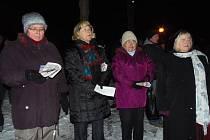 Zpívání koled ve Stříbře