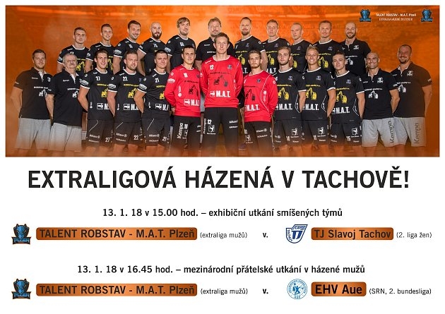 Talent Robstav M.A.T. Plzeň a plakát tachovského svátku házené.