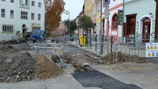 Náměstí Republikyv Tachově.