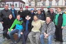 ČÁST ČLENSKÉ základny sdružení Dolníků, které vzniklo ve Stříbře.