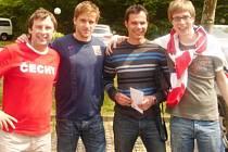 Na snímku zleva Štefan Baláž, Jan Marek, Lukáš Tylka a Jakub Kirschner.