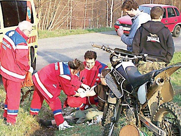 Motorkář havaroval pod vlivem alkoholu.