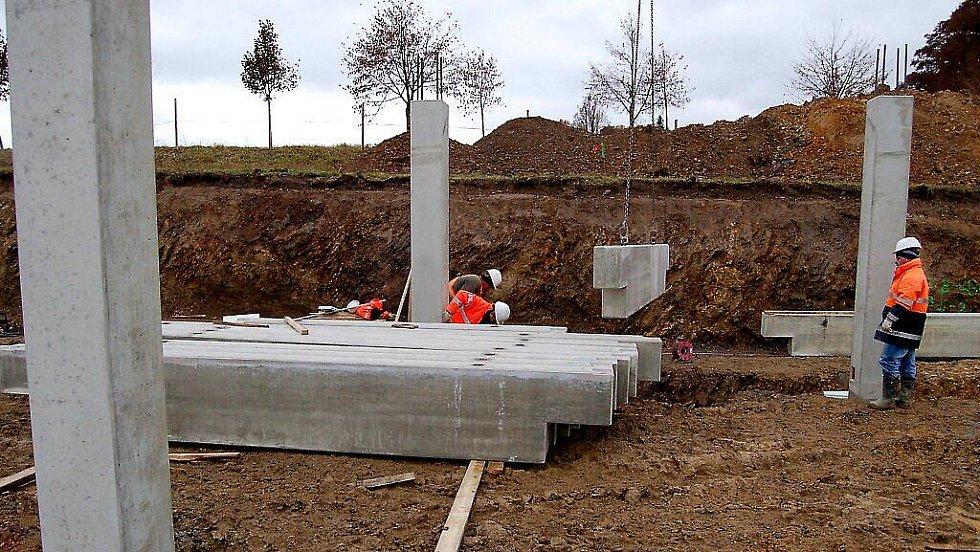 Stavba nové hasičské stanice v Tachově.