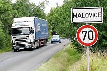 Malovicemi projedou při uzavírce D5 stovky kamionů.